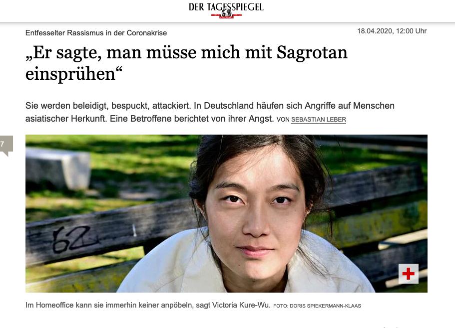 Screenshot des Artikels vom Tagesspiegel